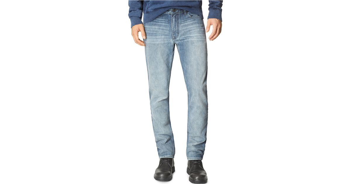 calvin klein jeans chalked slim straight leg jeans in blue. Black Bedroom Furniture Sets. Home Design Ideas