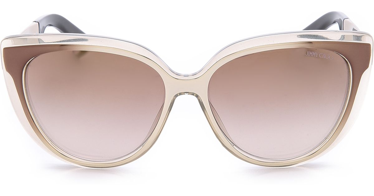 78b6e6566ad5 Lyst - Jimmy Choo Cindy Sunglasses - Honey Brown Gold in Natural
