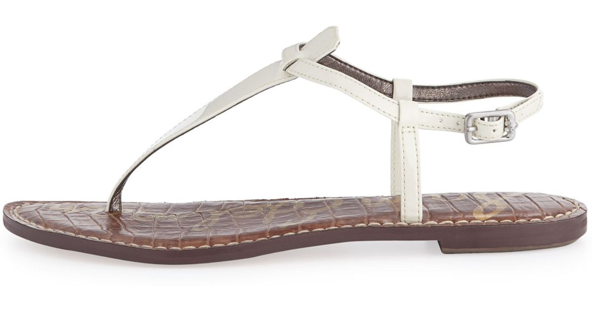 0eac56ba901b37 Lyst - Sam Edelman Gigi Thong Slingback Flat Sandal Clearsnow in White
