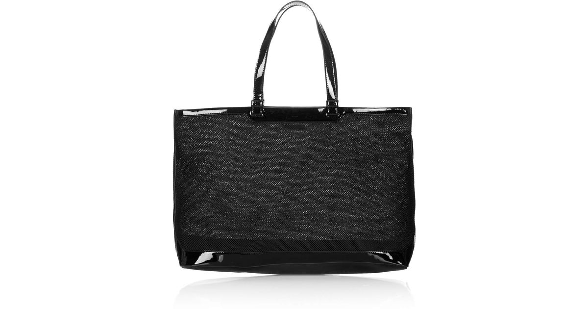 10b697f4488 ... Topshop Mesh Tote Bag in Black Lyst . ...