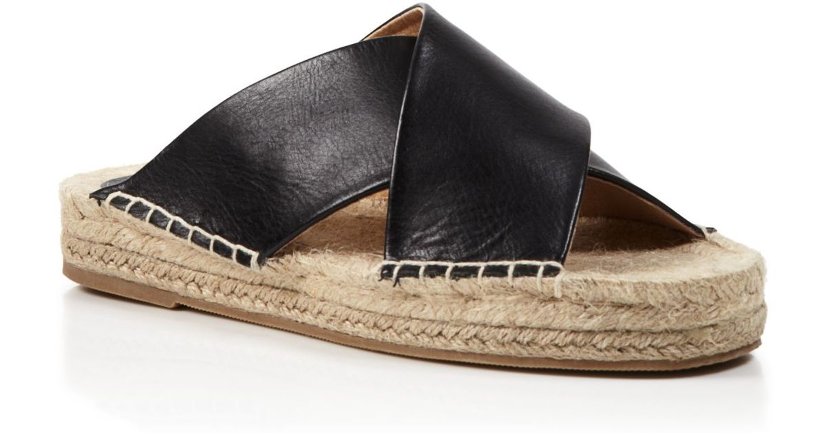 d240e086deb Lyst - Soludos Slide Espadrille Sandals - Crisscross in Black
