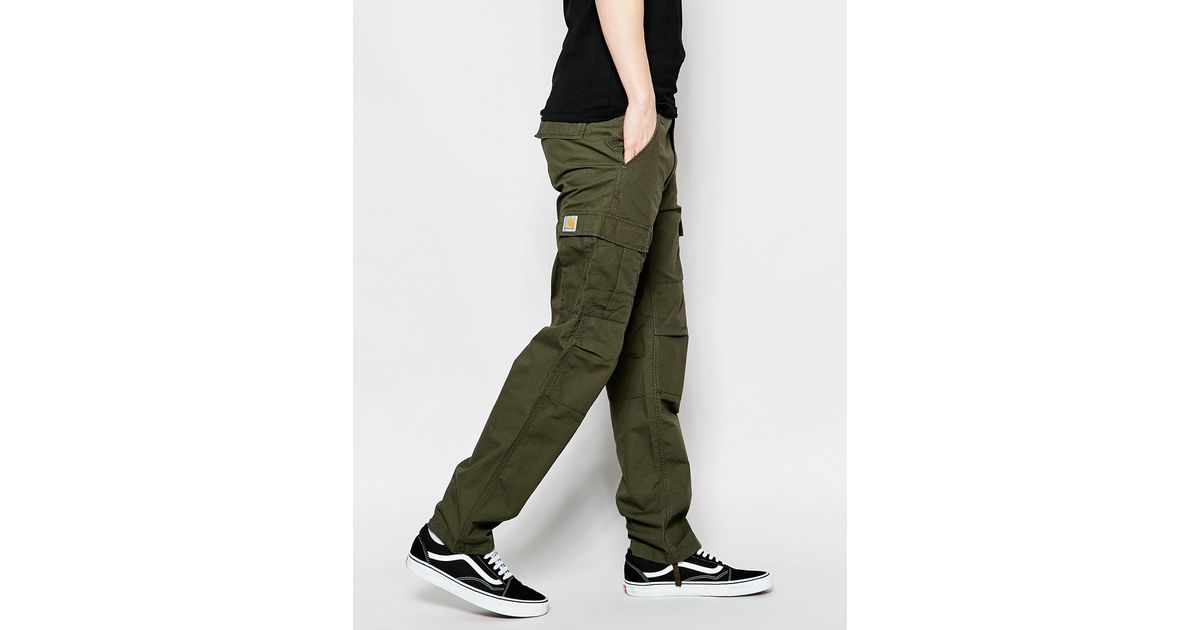 cd8ed30219 Carhartt WIP Aviation Cargo Pants - Cypress Rinsed in Green for Men - Lyst
