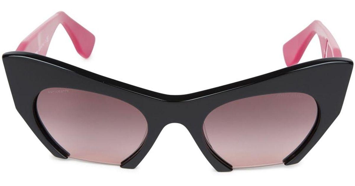 8974b39a5e Miu Miu Rasoir Cat Eye Acetate Sunglasses in Pink - Lyst