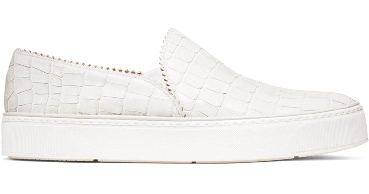 c7cd9a70c497 Lyst - Stuart Weitzman The Nuggets Sneaker in White