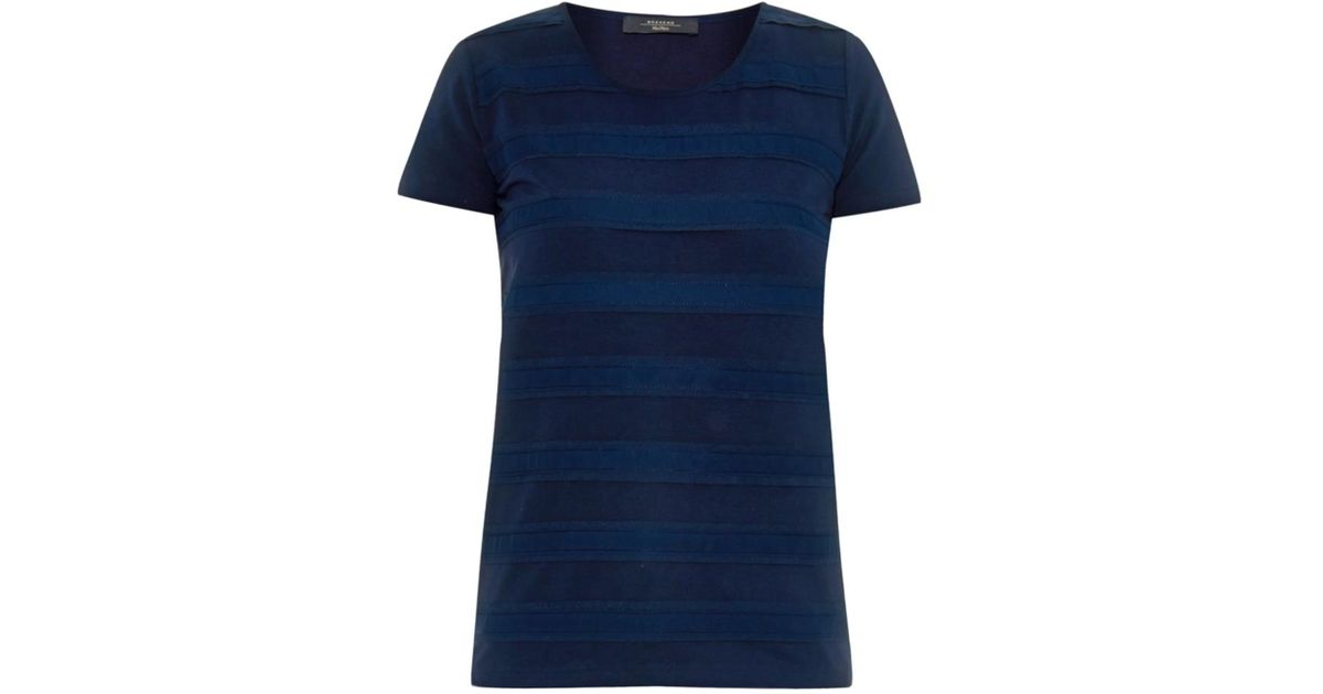 weekend by maxmara zebu t shirt in blue lyst. Black Bedroom Furniture Sets. Home Design Ideas
