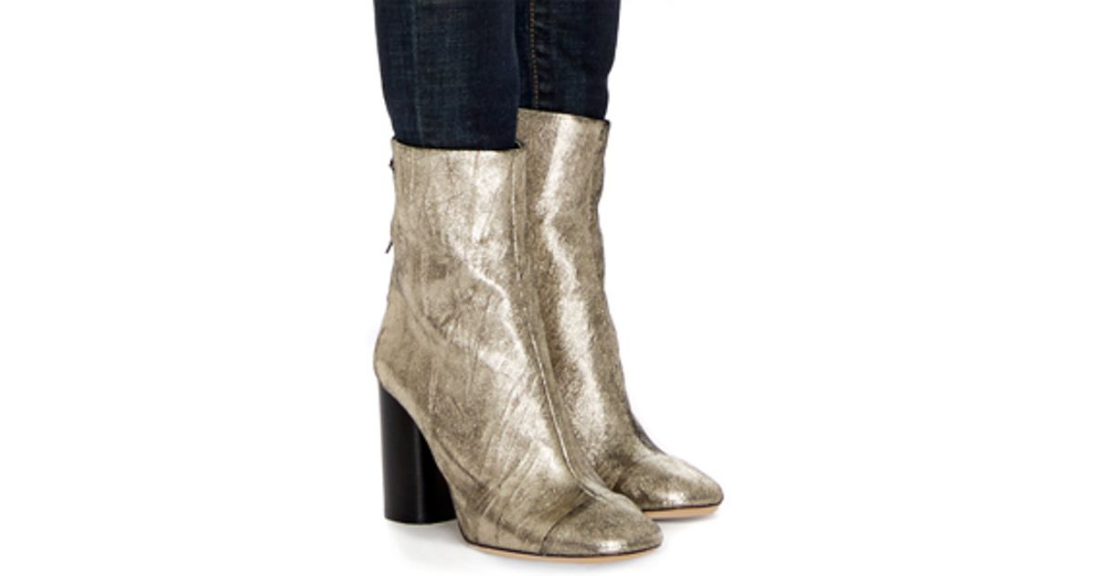 discount supply cheap sale amazon Isabel Marant Metallic Grover Ankle Boots outlet amazon manchester great sale sale online wcSIKMwoT5