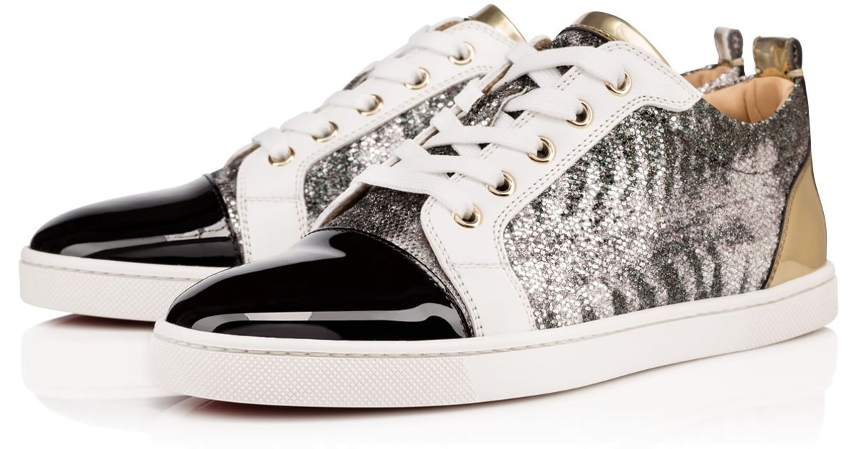 christian louboutin shoes for men price - christian louboutin gondoliere glitter patent leather sneakers ...