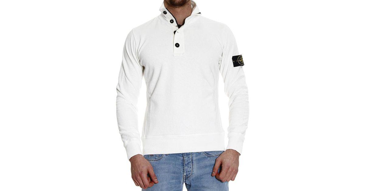 Stone island Sweater Knit Fleece Or Hooded Fleece Polo Buttons ...