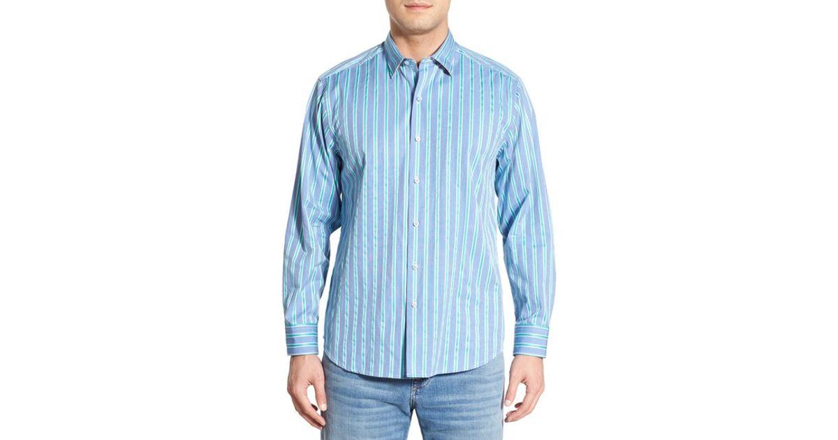 Tommy bahama 39 paradise lounge stripe 39 original fit stripe for Tommy bahama florida shirt