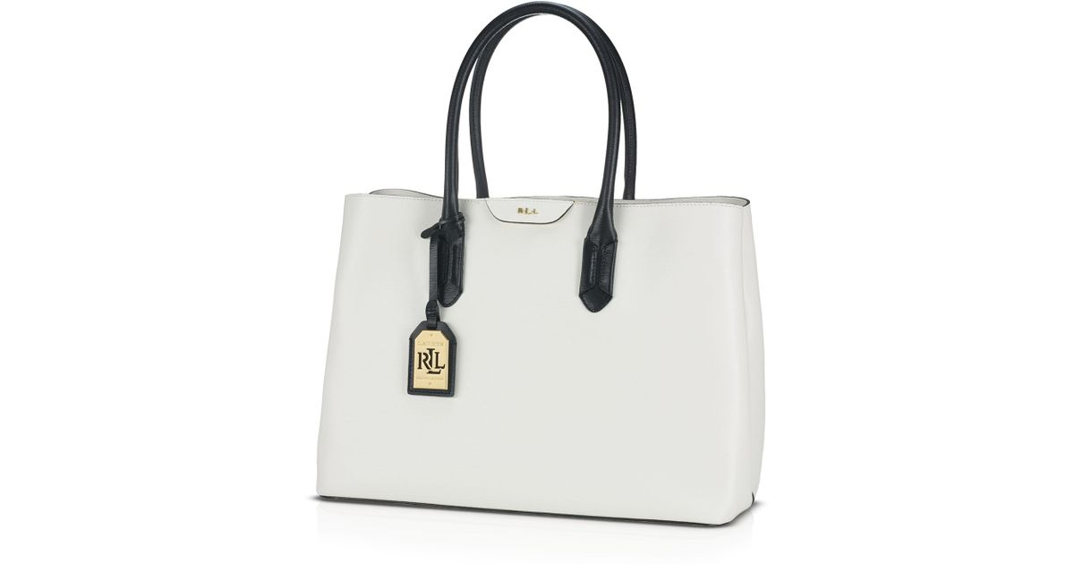 Lyst - Lauren by Ralph Lauren Tote - Tate Graphic City in White 05b47ae71cad5