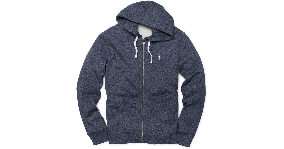 3015aaf12 ... australia lyst polo ralph lauren fleece full zip hoodie in blue for men  e5ed8 d570f