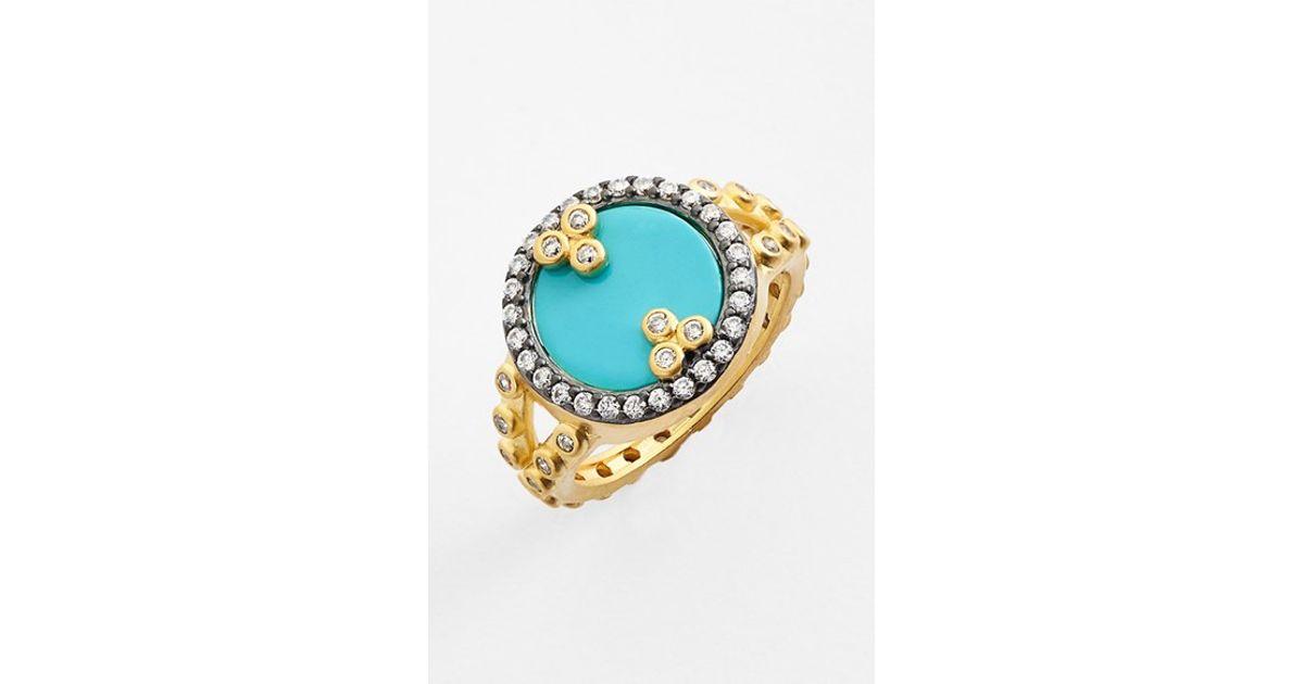 Lyst Freida rothman metropolitan Stone Ring Turquoise Gold