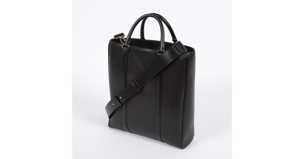 Paul smith Men's Black 'city Embossed' Leather Tote Bag in Black ...
