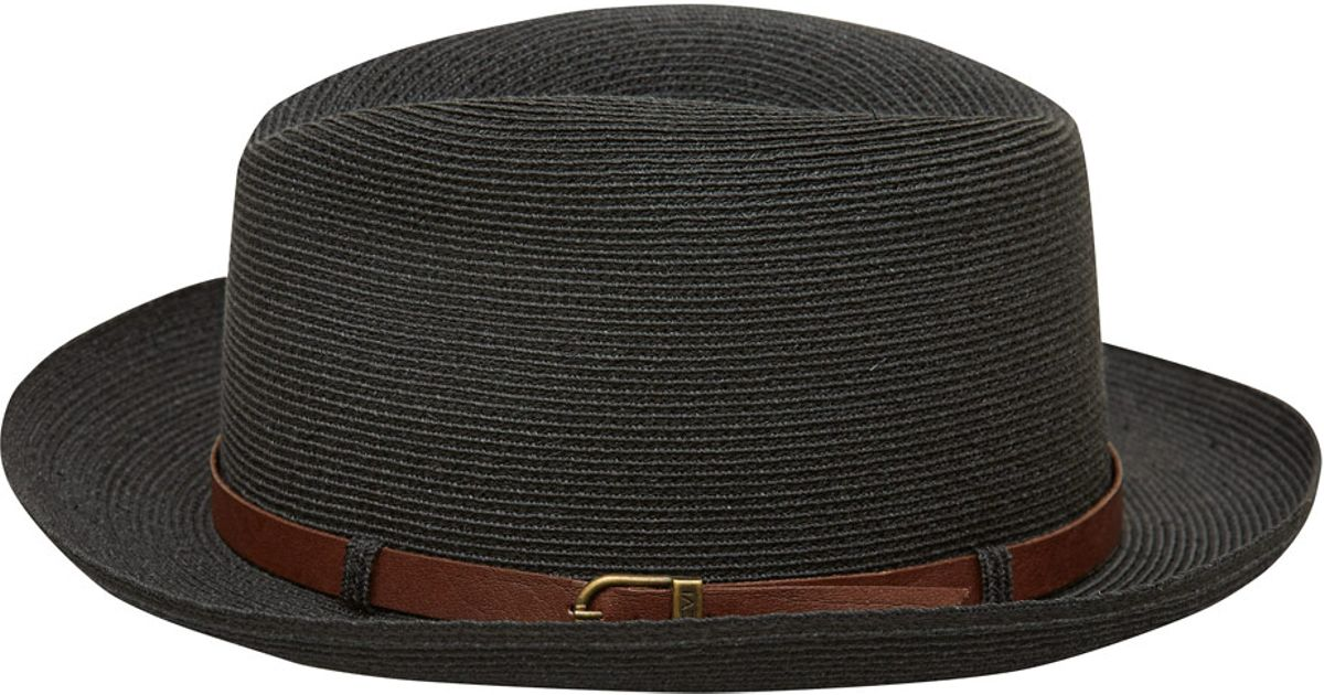 Lyst - Grevi Black Woven Hat With Leather Belt in Black for Men 0ecded2c5ecf