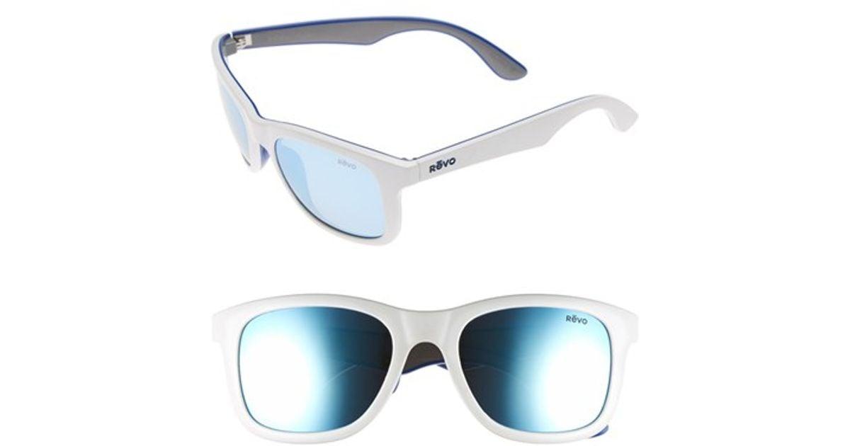 676f39700b Lyst - Revo  huddie  54mm Polarized Sunglasses in White for Men