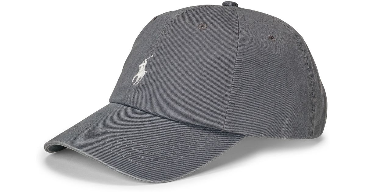 Polo Ralph Lauren Cotton Chino Baseball Cap in Gray for Men - Lyst b7d11812c82