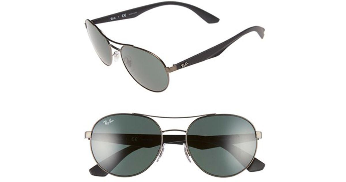 95c39d4005 Lyst - Ray-Ban 55mm Retro Sunglasses - Gunmetal  Green in Metallic for Men