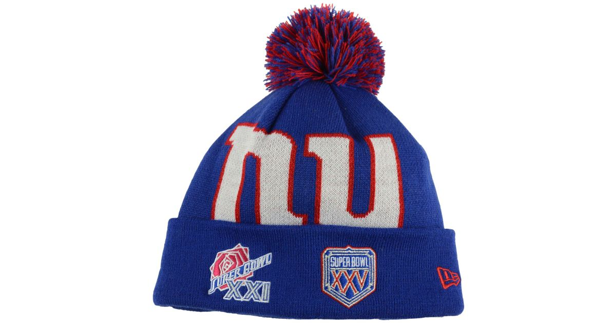 cheap for discount 37e4b dc95f ... discount code for lyst ktz new york giants multi super bowl champ big  team knit hat