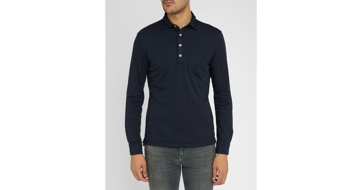 Armani Jeans Navy Long Sleeve Patch Pocket Buttoned