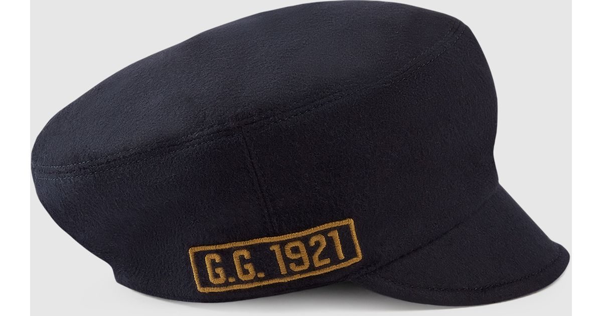 Gucci Wool Cap With Military Patches in Blue for Men - Lyst a95f60cd7fd