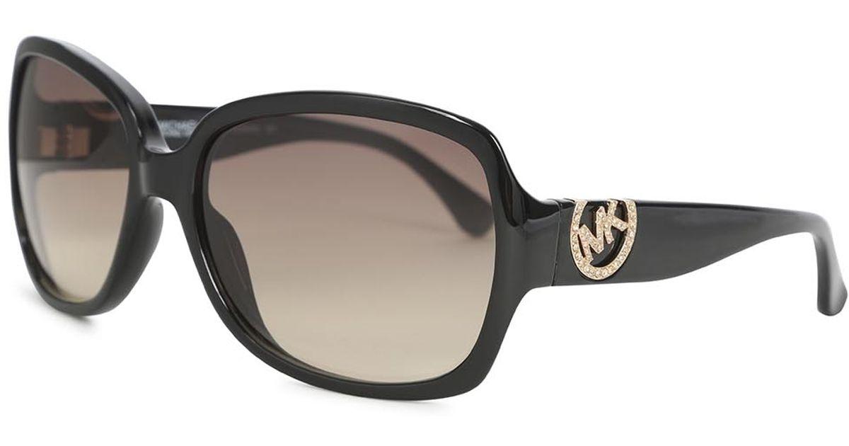 5990abff8025 Michael Kors Angela Black Acetate Sunglasses in Black - Lyst