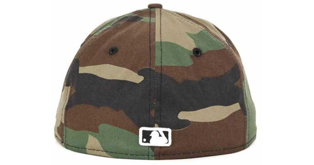 new styles 499b3 70ff3 ... promo code for lyst ktz chicago white sox mlb bc camo 59fifty cap in  green for