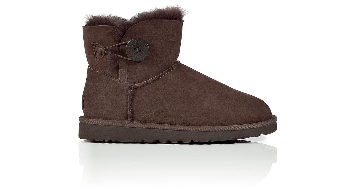 bailey button chocolate ugg boots