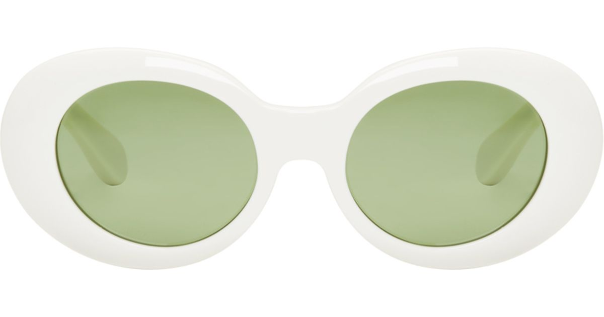 5a278a97184d0 Lyst - Acne Studios White Mustang Sunglasses in Green