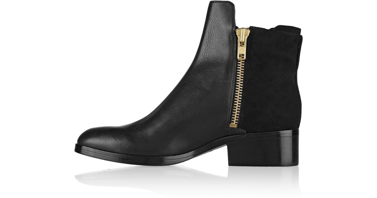 e2dccacc4e1c8 Lyst - 3.1 Phillip Lim Alexa Leather And Nubuck Ankle Boots in Black