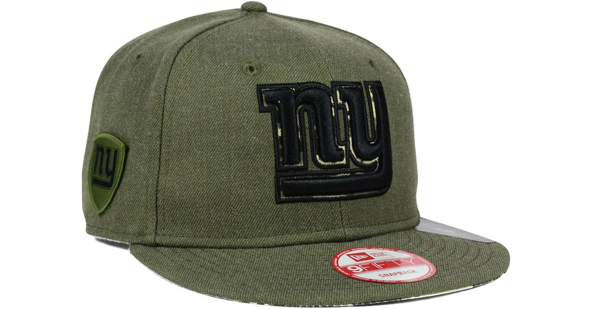 848ca96b5 Lyst - Ktz New York Giants Camo 9fifty Snapback Cap in Green for Men