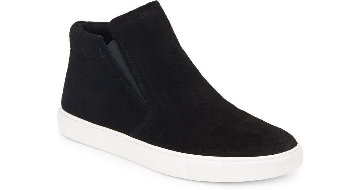 Kenneth Cole Kyle Suede High Top Sneakers In Black For Men