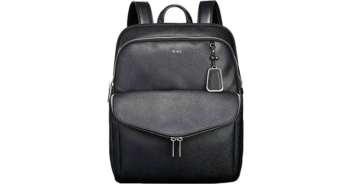 692ac4e4d Tumi Harlow Coated Canvas Backpack - For Women in Black - Lyst