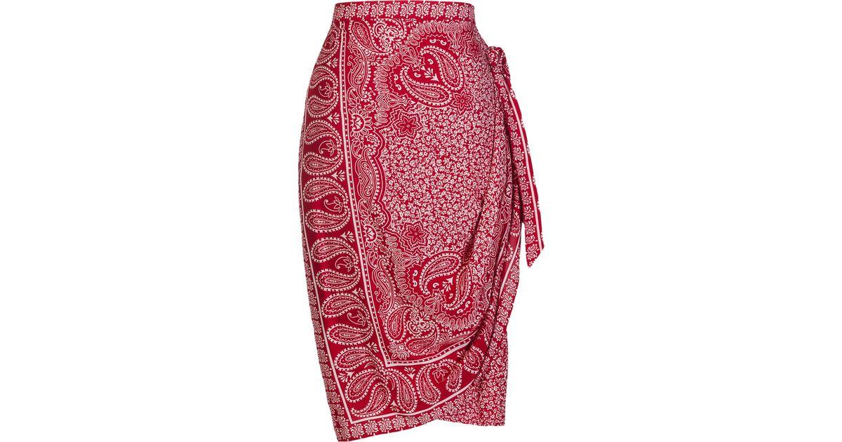 Lyst Lena Hoschek Foulard Bandana Skirt In Red