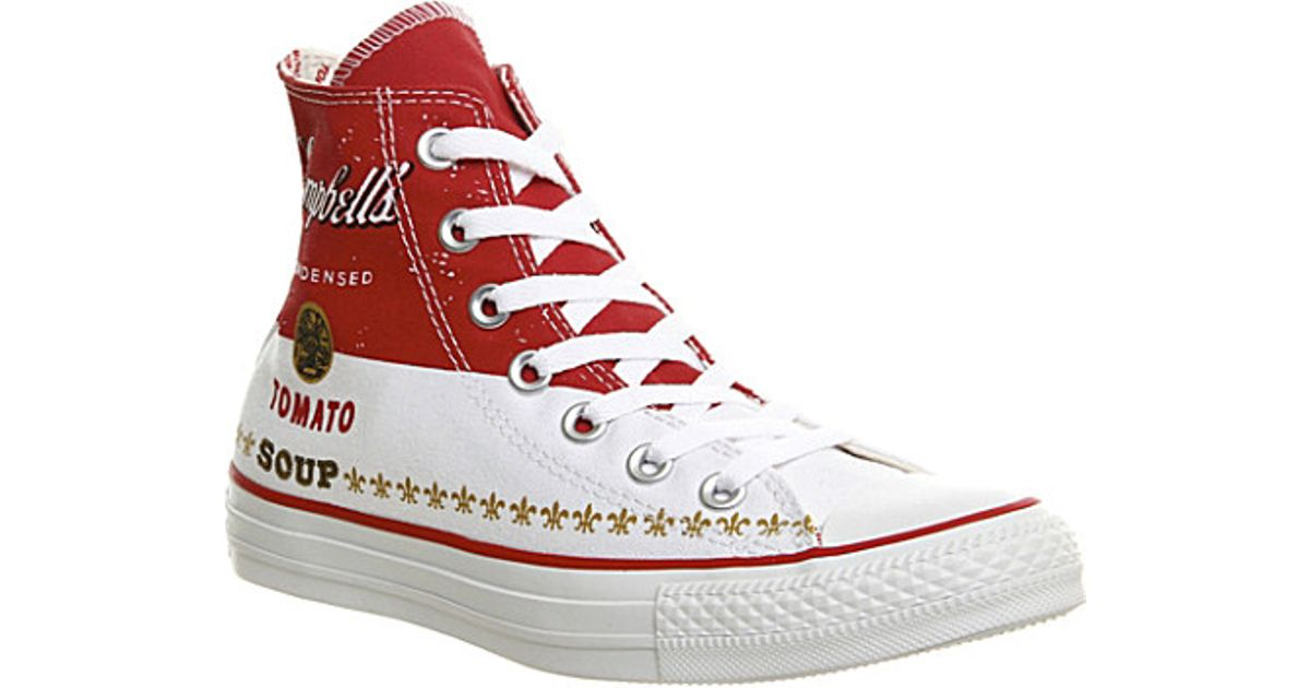 99cbed5a792 Converse Andy Warhol All Star High-top Trainers in White for Men - Lyst