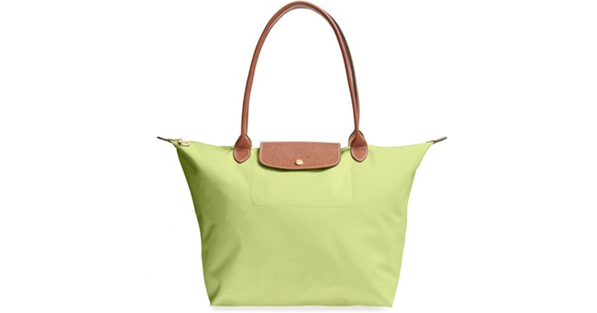 14651201b9d51 Lyst - Longchamp  large Le Pliage  Tote in Yellow