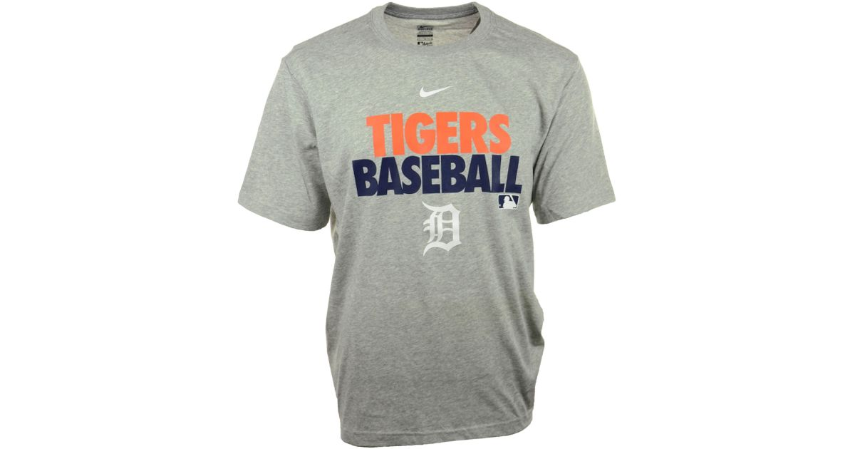 Lyst - Nike Mens Shortsleeve Detroit Tigers Drifit Tshirt in Gray for Men dc1b55c5e