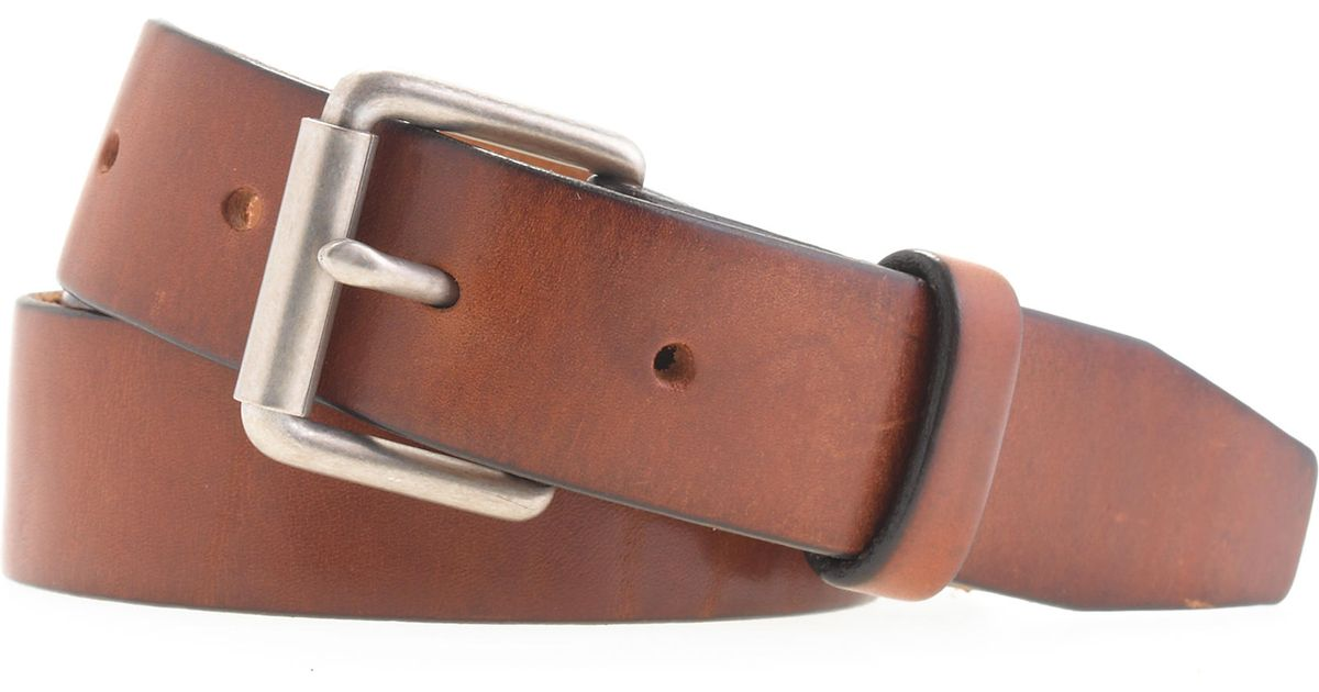 368fa928370a9 Lyst - J.Crew Leather Roller-buckle Belt in Brown for Men