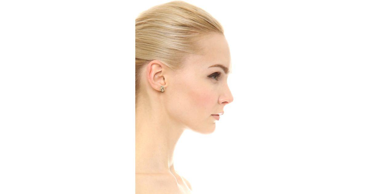 bd6dce5310e1 Michael Kors Rose Gold Tone Stone Set Logo Stud Earrings - Best All ...