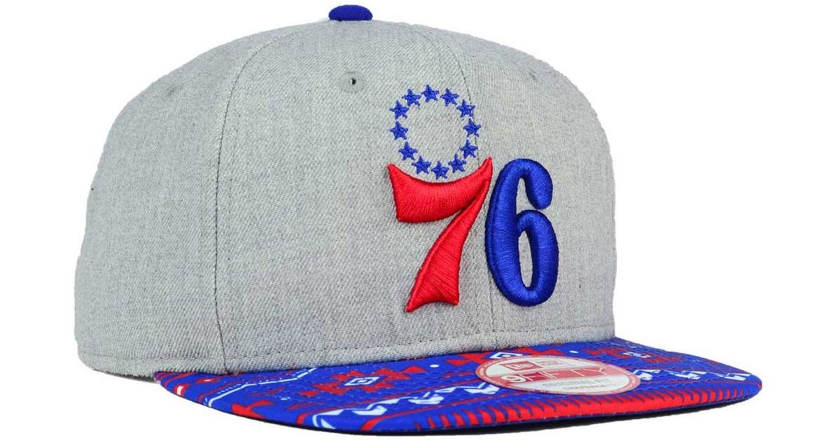 newest 28e41 21bdc Lyst - KTZ Philadelphia 76ers Neon Mashup 9fifty Snapback Cap in Purple for  Men