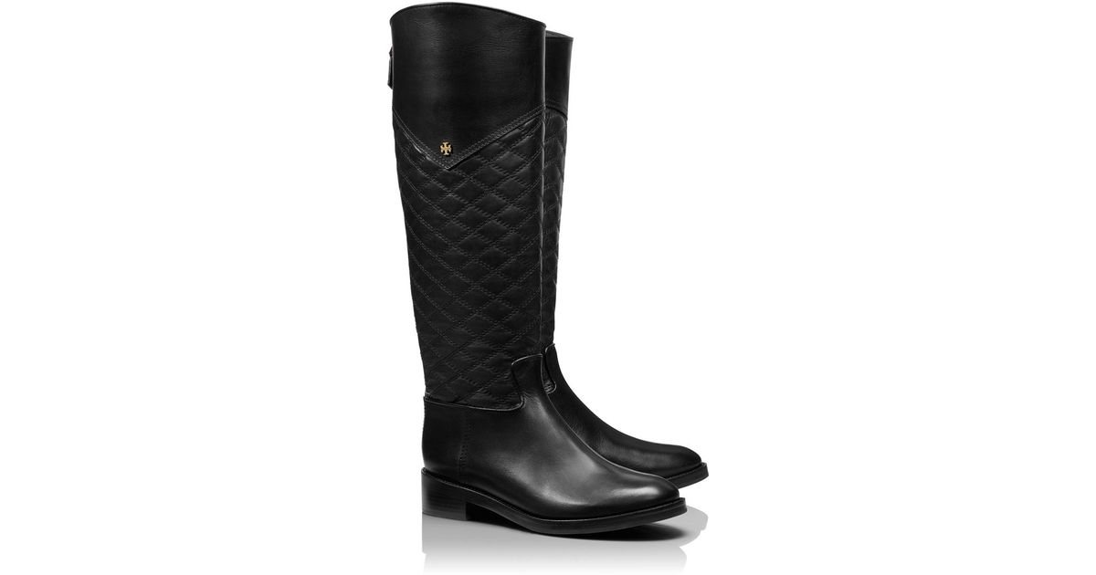 c9783a7d564 Lyst - Tory Burch Claremont Tall Boot in Black