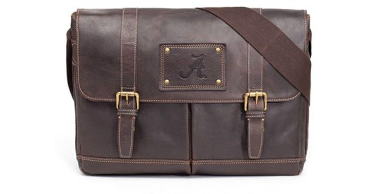 Lyst Jack Mason Brand Alabama Crimson Tide Messenger Bag In Brown For Men