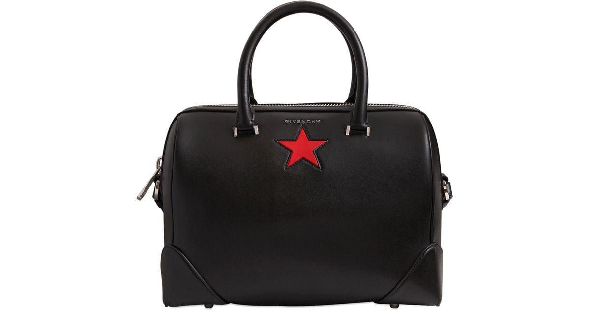 9a3ea4da17 Lyst - Givenchy Medium Lucrezia Star Smooth Leather Bag in Black
