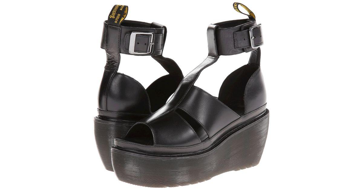 Dr. Martens Black Bessie Ankle Strap Sandal