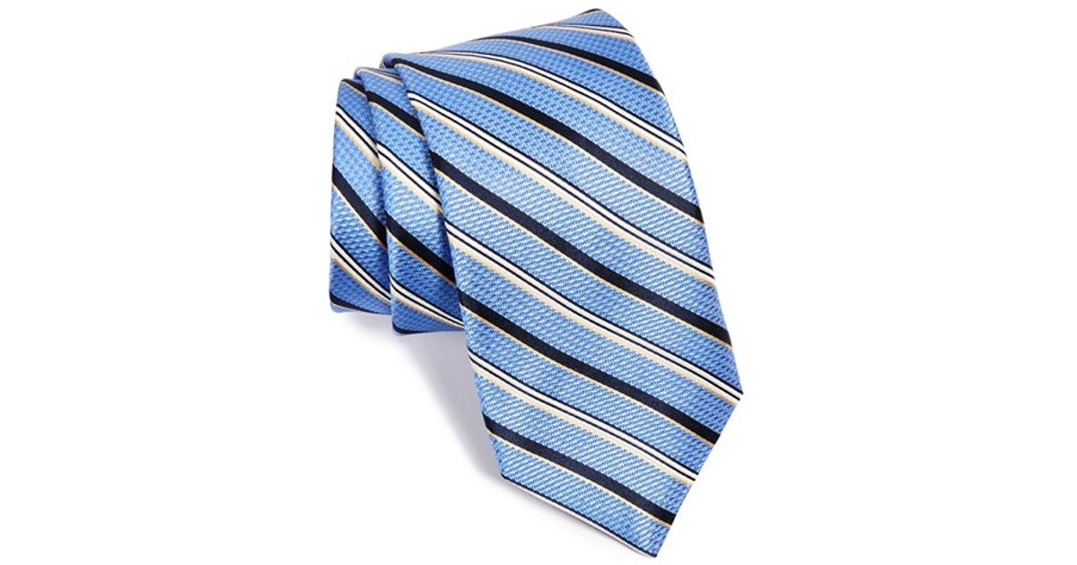 954ecbfbc8ea Lyst - Michael Kors Stripe Silk Tie in Blue for Men
