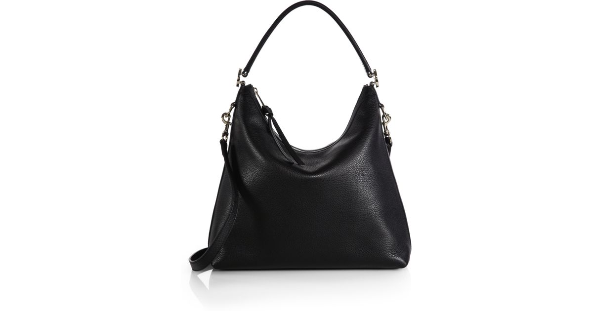 e0652e13d14d Lyst - Gucci Miss Gg Leather Hobo Bag in Black