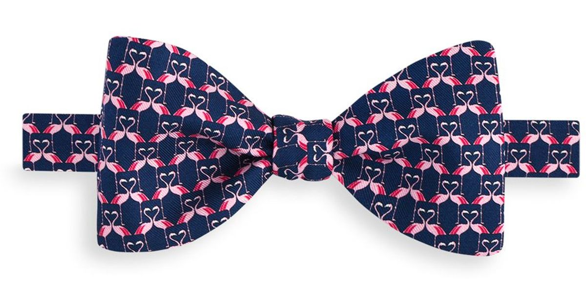 72602d31a972 Thomas Pink Flamingo Heart Self Tie Bow Tie in Purple for Men - Lyst