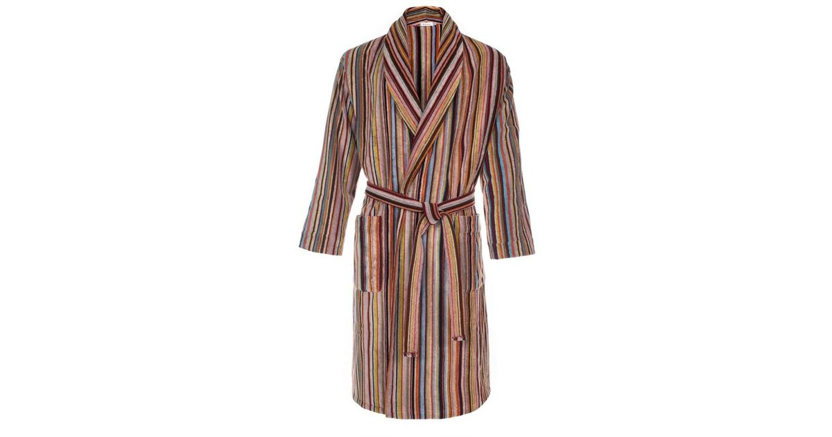 Lyst - Paul Smith Men\'s Signature Striped Towelling Dressing Gown ...
