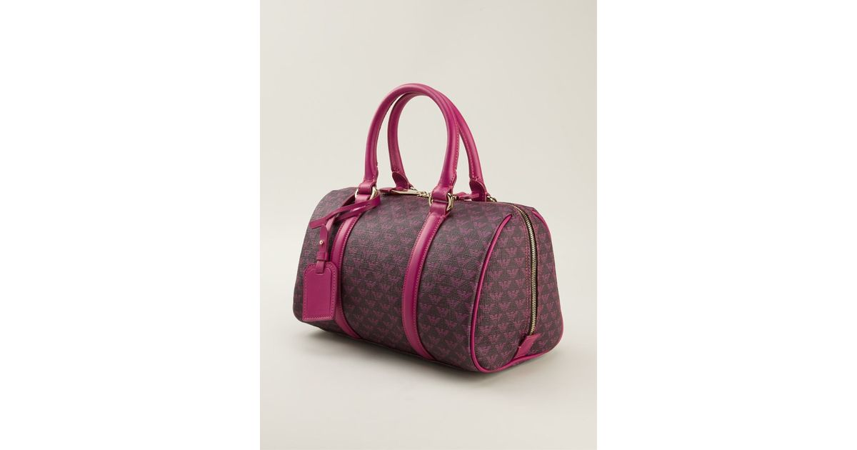 Emporio Armani Logo Pattern Doctor Bag in Purple - Lyst 6374c637a3cae