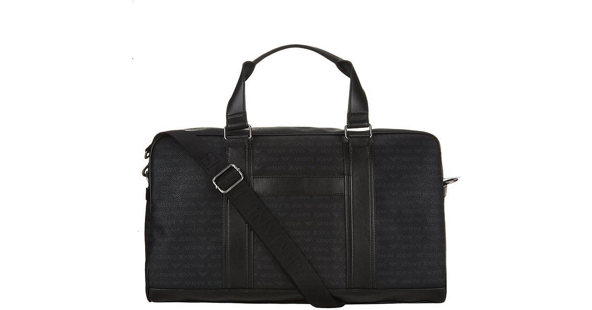 Armani Jeans Weekend Bag in Black for Men - Lyst 5593e7131fd41
