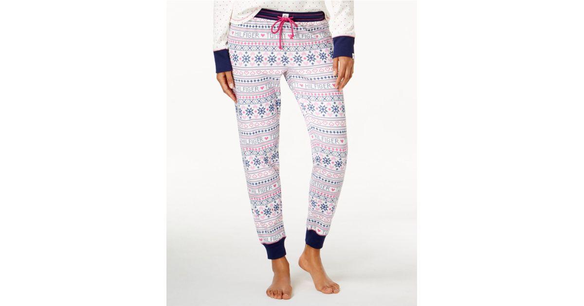 Tommy hilfiger Thermal Vintage Jogger Pajama Pants   Lyst